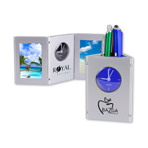 Time & Picture Clock/Pen Cup