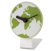 Green Global Map Quartz Clock