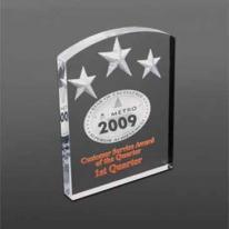 Arched Deep Etch Award - Laser