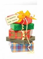 Stacked Presents - Card Only - Envelope & Three Logos