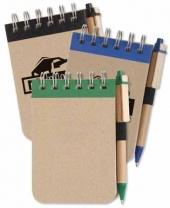 Eco Jotter With Recycled Eco-Friendly Pen