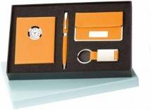 Maxine Ballpoint, Leather Clock, Card Case & Key Ring Set