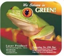 "7"" X 8"" X 1/8"" Full Color RECYCLED Soft Surface Mouse Pad"