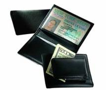 Magnetic Money Clip/Card Case With Window-Florentine Napa