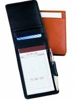 3.3 oz. Synthetic Leather - Fold Over Note Taker