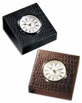 12 oz. Croco Cowhide - Croco Leather Table Clock