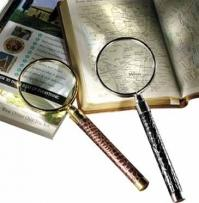6.7 oz. Croco Cowhide - Croco Leather Magnifying Glass