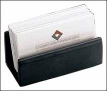 1.7 oz. Florentine Napa - Desktop Business Card Holder