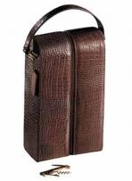 2 Lbs. 5 oz. Croco Cowhide - Double Wine Holder