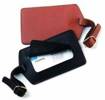 1.1 oz. Cowhide Leather - Deluxe Luggage ID Tag