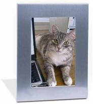 Silver Acclaim Frame (holds 4x6 Image)