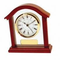 Rosewood Finish Desk Clock