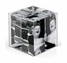 Cube 3 II Optical Acrylic & Stainless Photo Cube