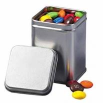 Square Mint Tin With Empty