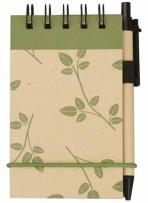 V Natural Kraft Geo Jotter With Pen