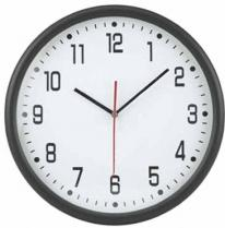 12� Round Thin Frame Wall Clock
