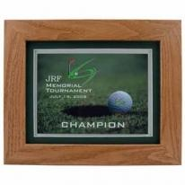 Wood Framed Golf Award