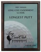 Framed Golf Award Plaque