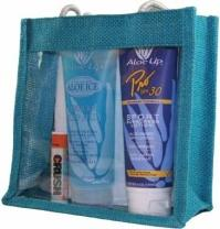 Medium Jute Bag-Clear Front