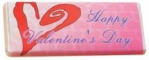 1.75 oz Custom Chocolate Bar With Valentine's Wrapper