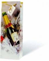 Champagne Paper Holiday Wine Bag