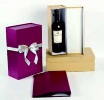 "Regency ""Pop-Up""; Wine Bottle Gift Box With Ribbon Bow"
