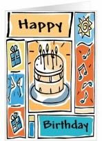 Birthday Frames Greeting Card
