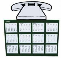 Phone Tent Calendar Greeting Card