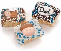 Father's Day Chocolate Dipped Mini Krispies