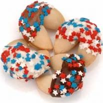 Patriotic Confetti Hand-Dipped Gourmet Fortune Cookies