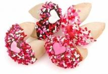 Romantic Hand Dipped & Decorated Gourmet Fortune Cookies