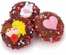 Belgian Chocolate Valentine Oreos-Individually Wrapped