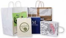 Custom Paper Kraft Shopping Bags-8 X 4 3/4 X 10 1/4
