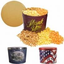 2 Gallon Popcorn Tins - Three Way - Butter, Caramel & Cheese