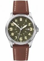 Infantry Vintage Large Green Dial Brown Leather Strap