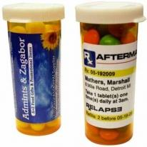 Mini Pill Bottle With Colored Bullet Candy