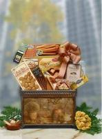 Keepsake Wood Magazine Rack Gift Basket