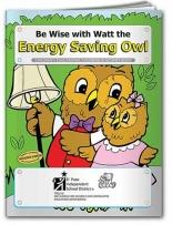 Coloring Book: Energy Saving Owl