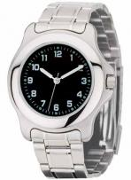 Silver Finishing With Black Dial Mens & Ladies Watch