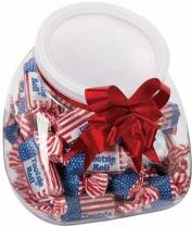 Flatteneted Globe Jar - Flag Toots