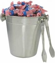 Stainless Ice Bucket With Tongs (*flag Toots)