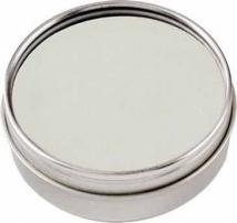 Polar Leather Coaster Set in Clear-view Tin