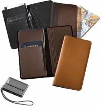 Slimline Passport/Document Holder - Leather/Nylon 8.7 oz.