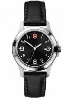 Garrison Elegance Small Black Dial Black Leather Strap