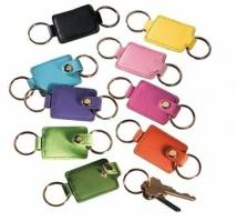 Valet Double Key Fob - Synthetic Leather