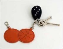 Basketball Key Fob - Synthetic Leather