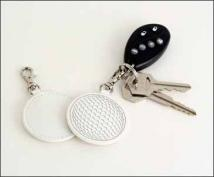 Golf Ball Key Fob - Synthetic Leather