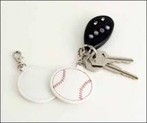 Baseball Key Fob - Synthetic Leather