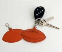 Football Key Fob - Synthetic Leather