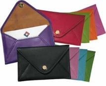 Snap Business Card Envelope - Florentine Napa Leather